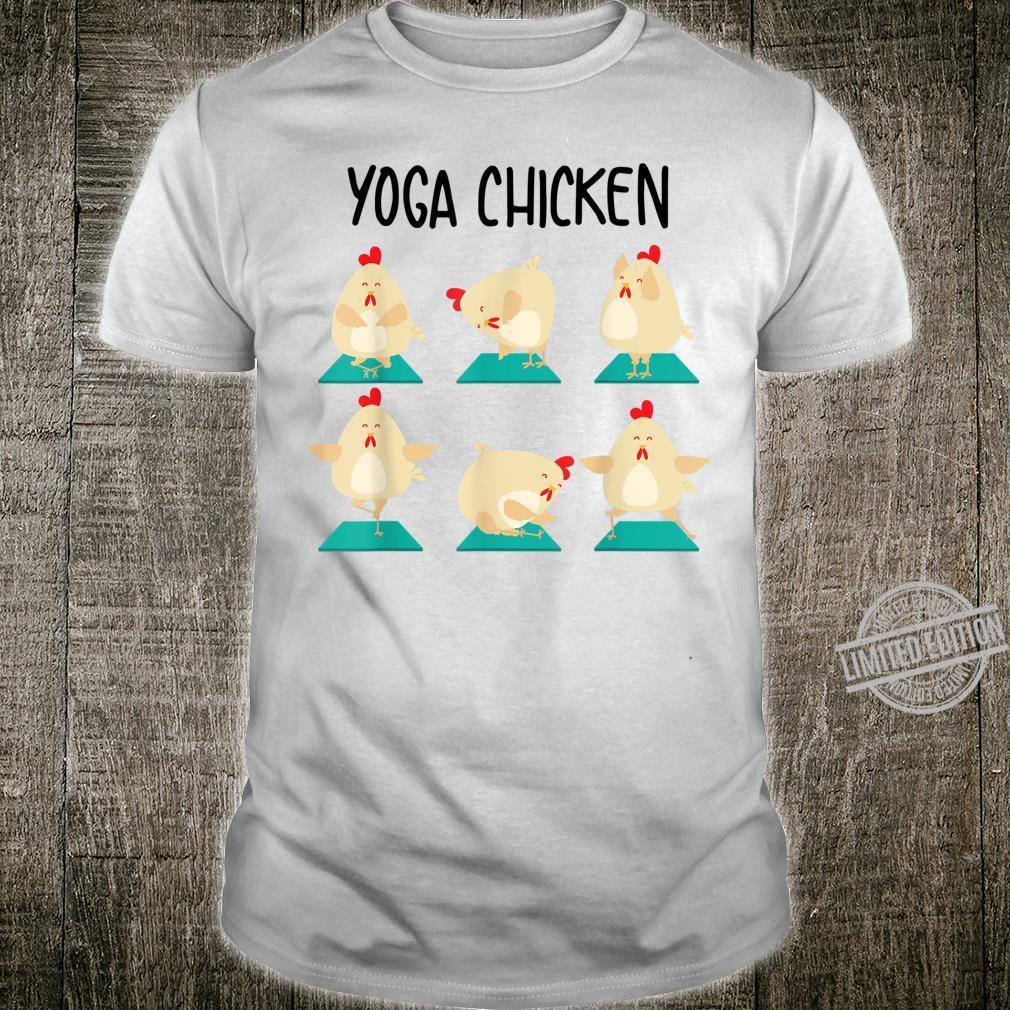Yoga Chicken Cute Physical Class Reflection Girl Shirt