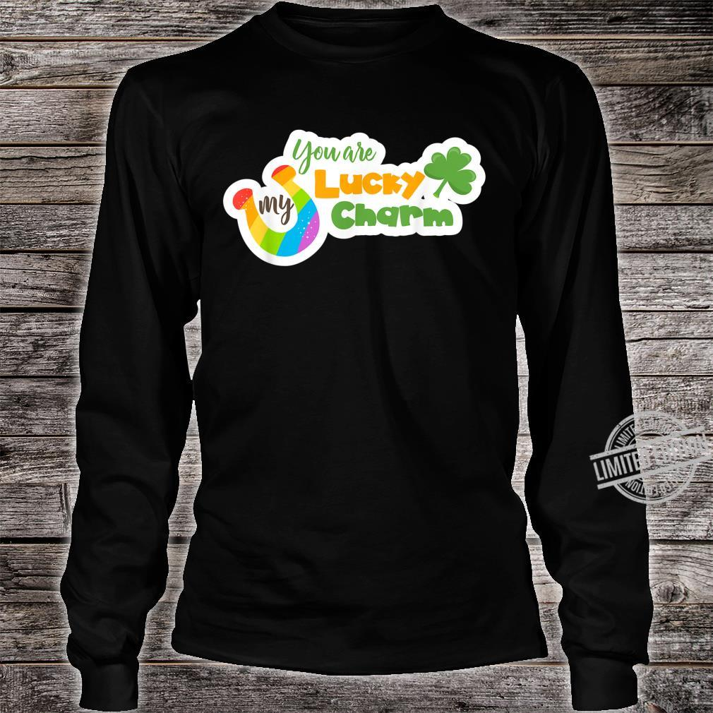 You`re My Lucky Charm with Green Clover & Rainbow Horseshoe Shirt long sleeved