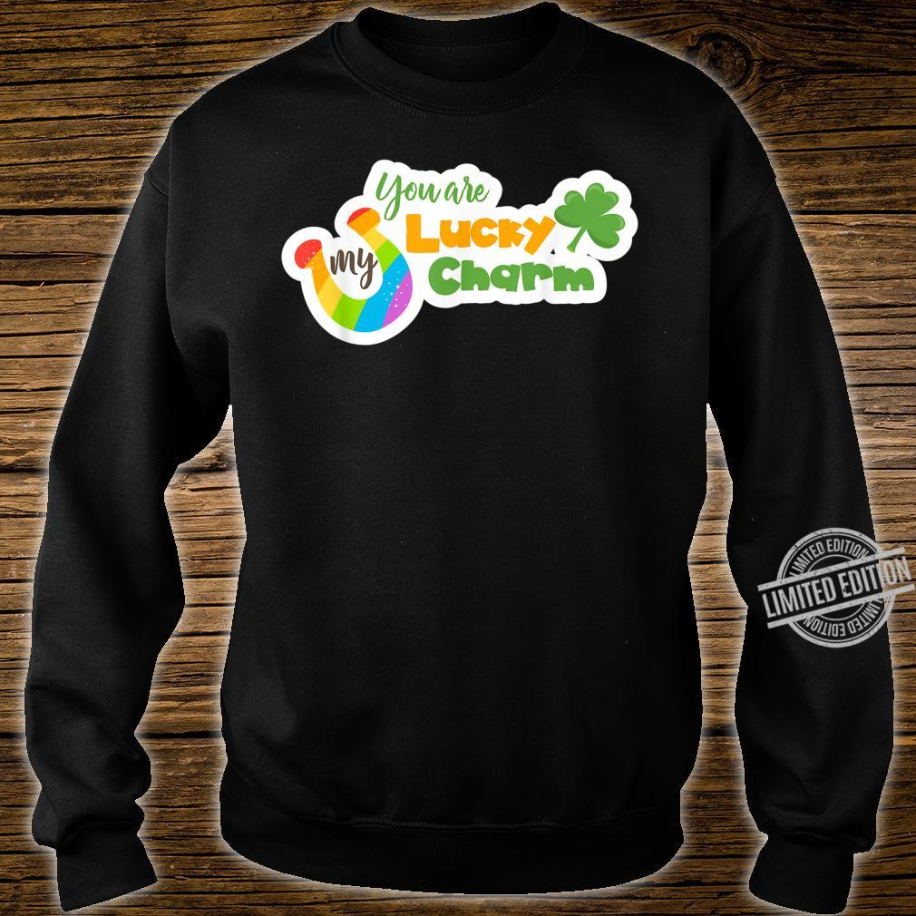 You`re My Lucky Charm with Green Clover & Rainbow Horseshoe Shirt sweater