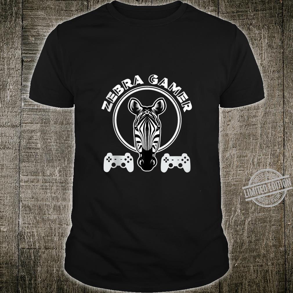 Zebra Gamer Controller Design For Gamer Boyfriend Shirt