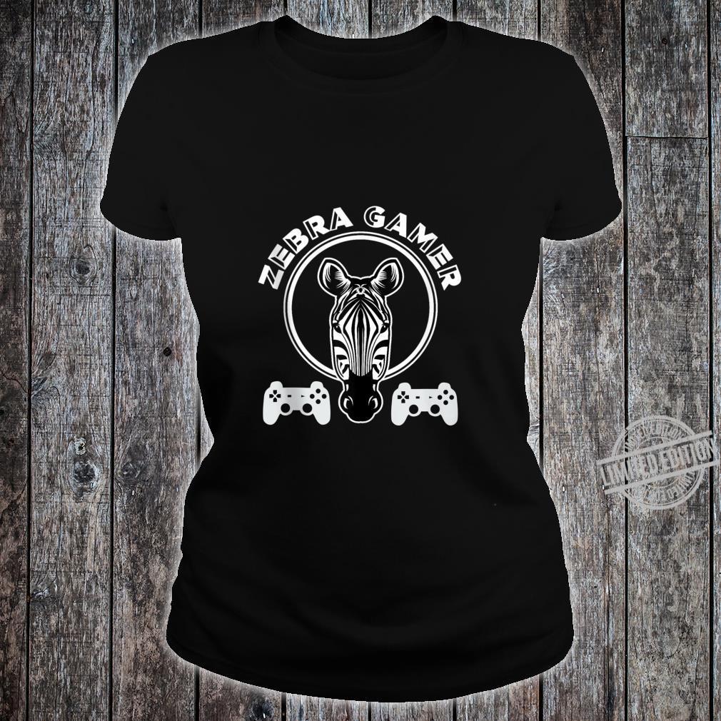Zebra Gamer Controller Design For Gamer Boyfriend Shirt ladies tee