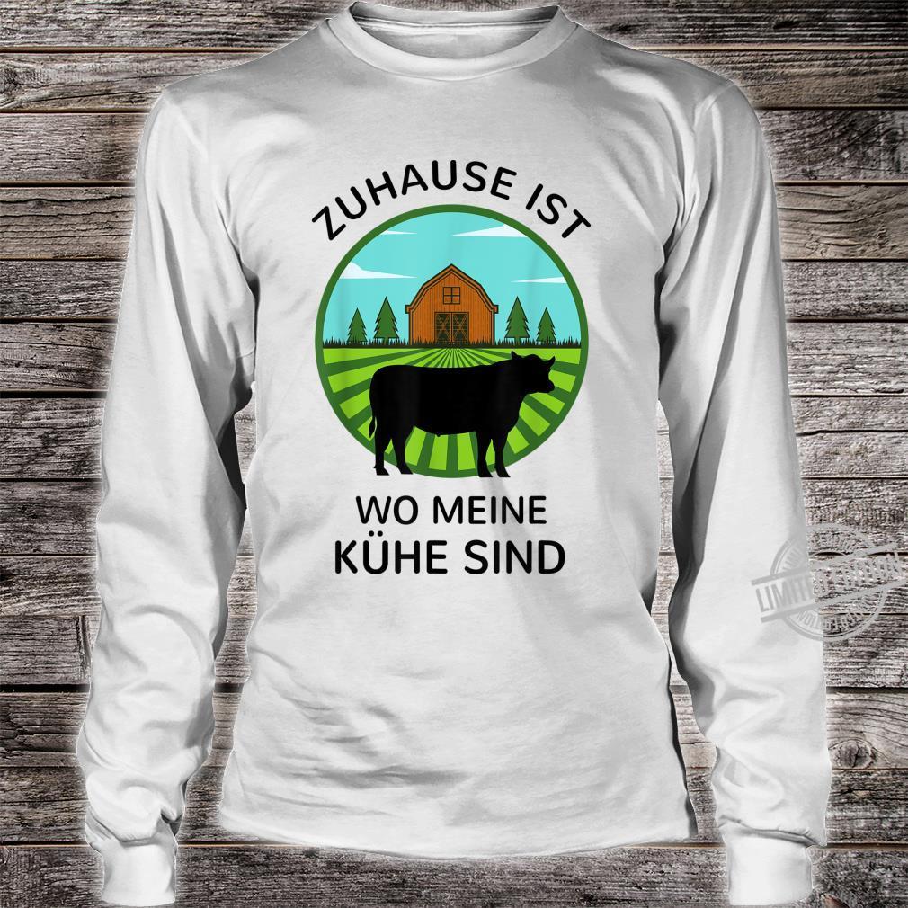 Zuhause ist wo meine Kühe sind Landwirt Bauer Geschenk Kuh Shirt long sleeved